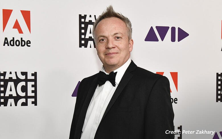 Gary Dollner, editor of Fleabag, at the ACE Eddie Awards. Image courtesy Peter Zakhary