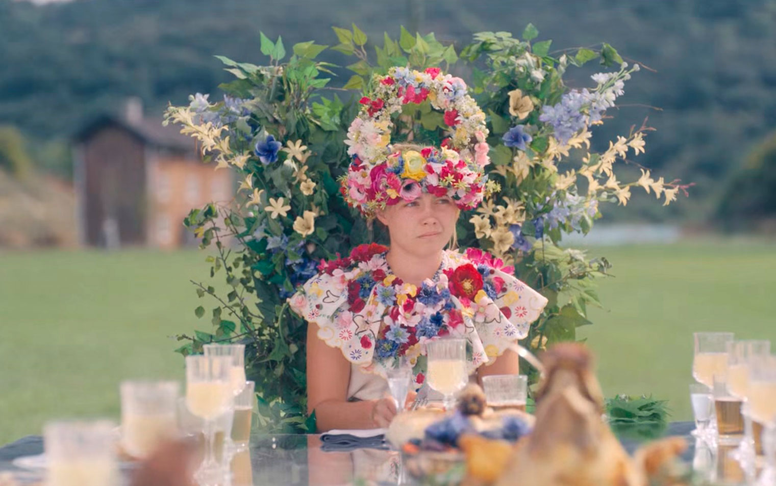 """Film still from the 2019 movie """"Midsommar"""" from A24"""