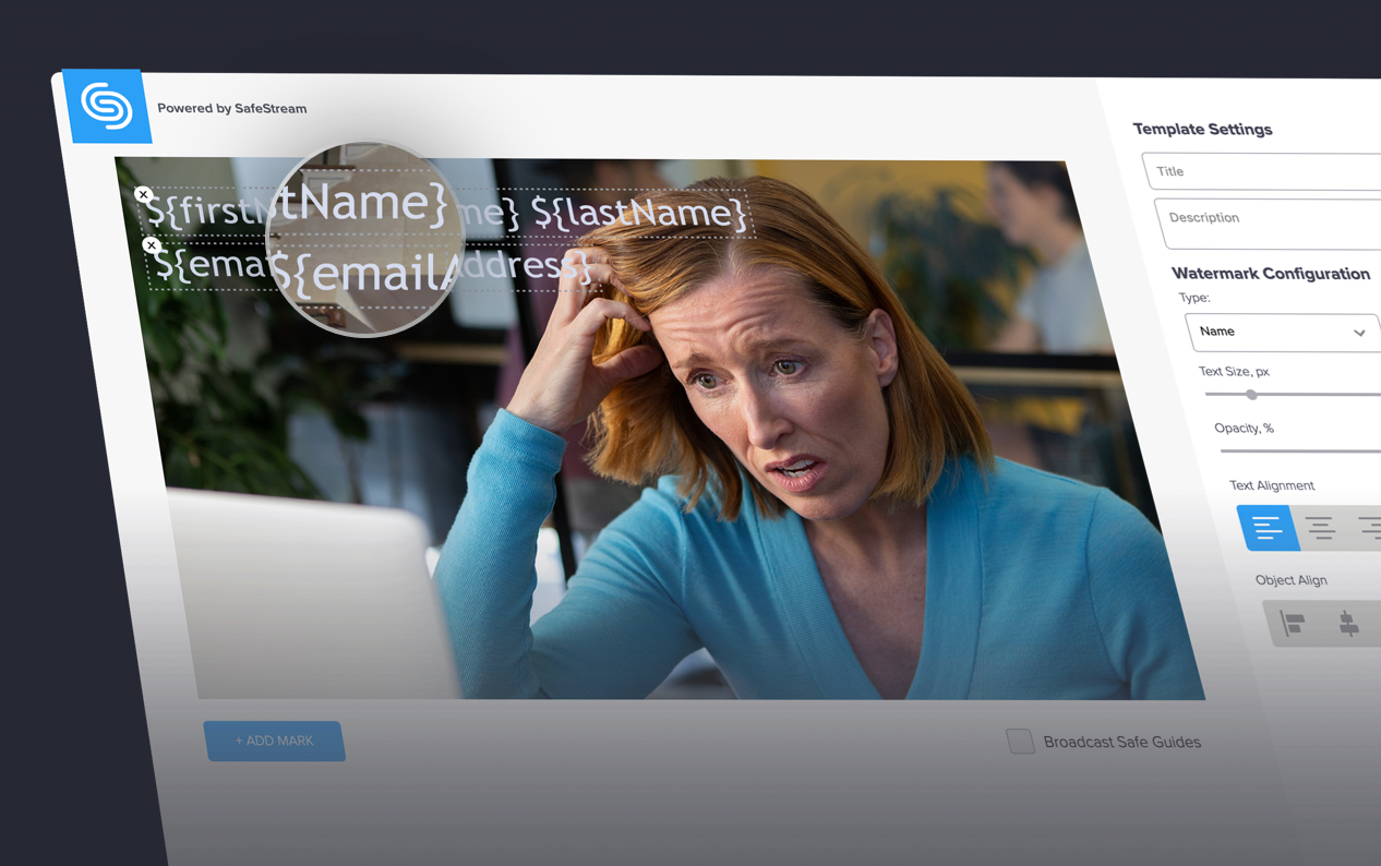 Screenshot of SafeStream, content security technology from SHIFT, a digital platform for remote media collaboration