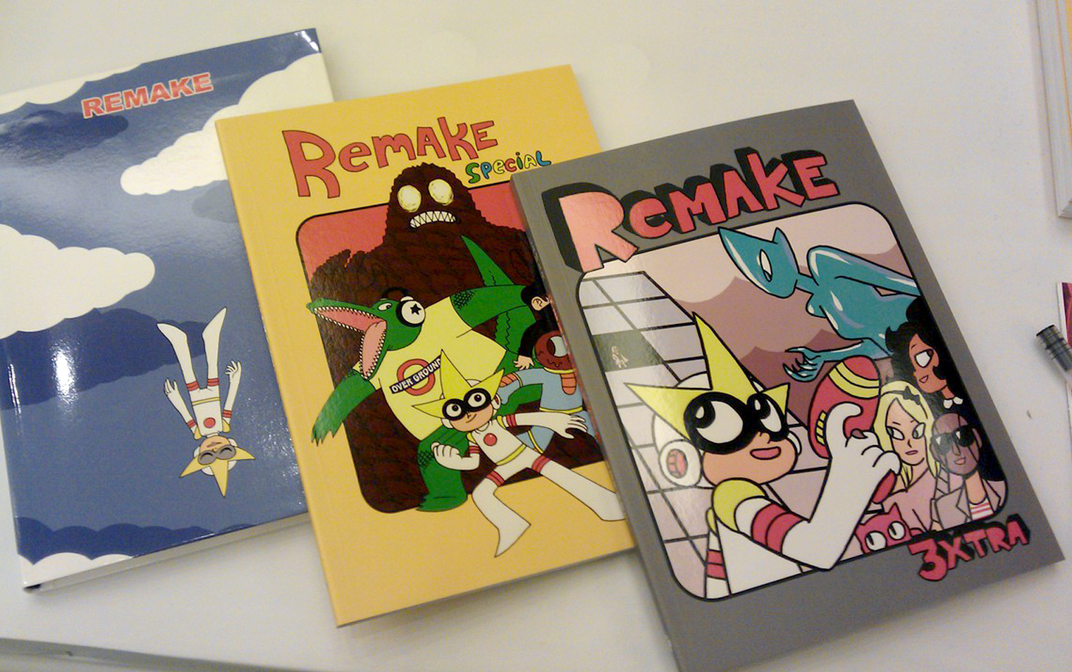Covers of Remake, comic by Lamar Abrams, storyboard artist for Steven Universe. Credit: AdHouse