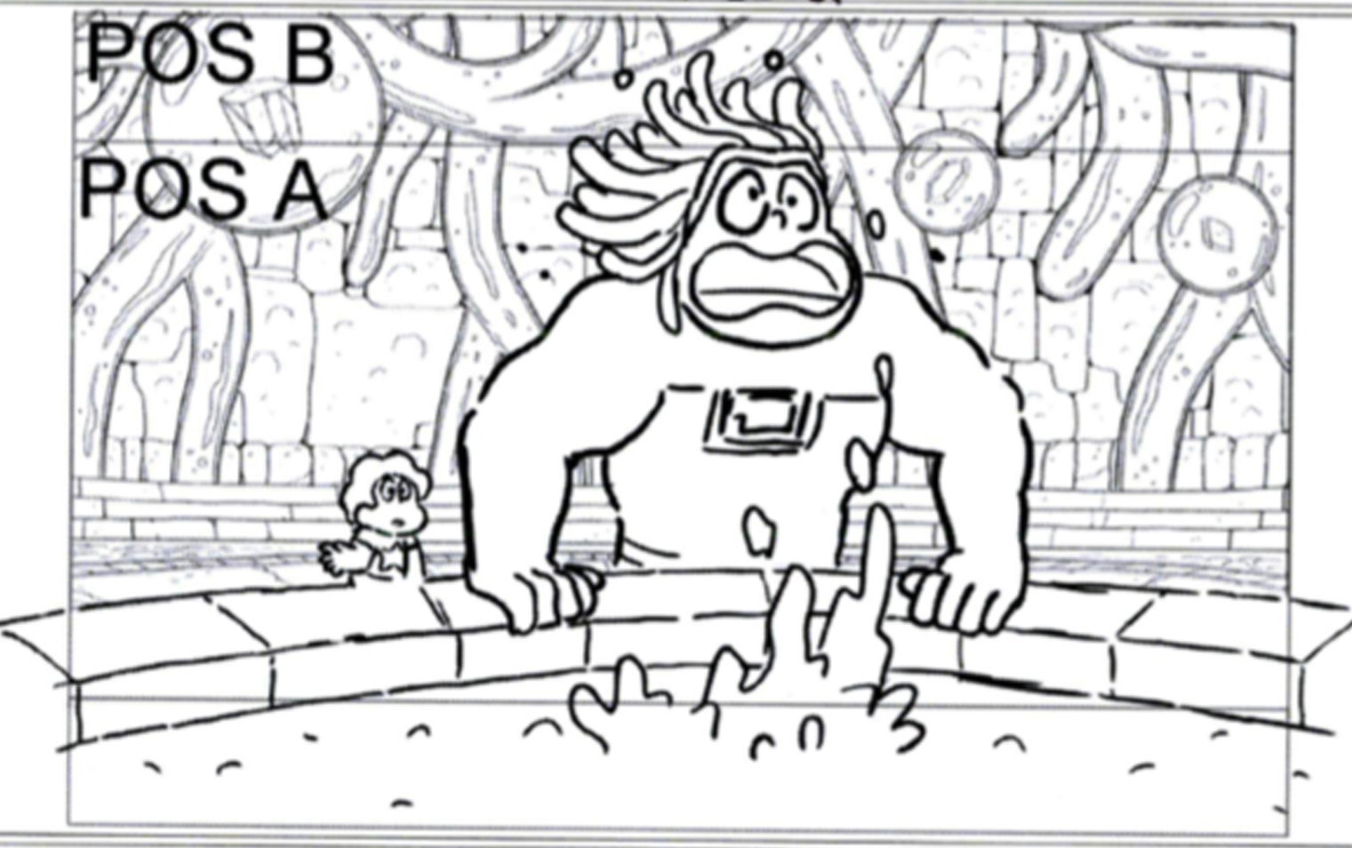 Storyboard panel from Steven Universe. Credit: Cartoon Network